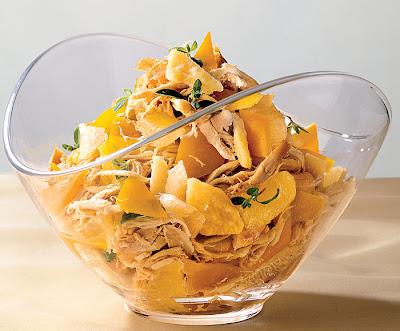 Быстрый салат с курицей и перцем